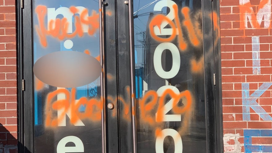 image for DEM CIVIL WAR: Bloomberg Offices Vandalized, Campaign Suggests Bernie Su...