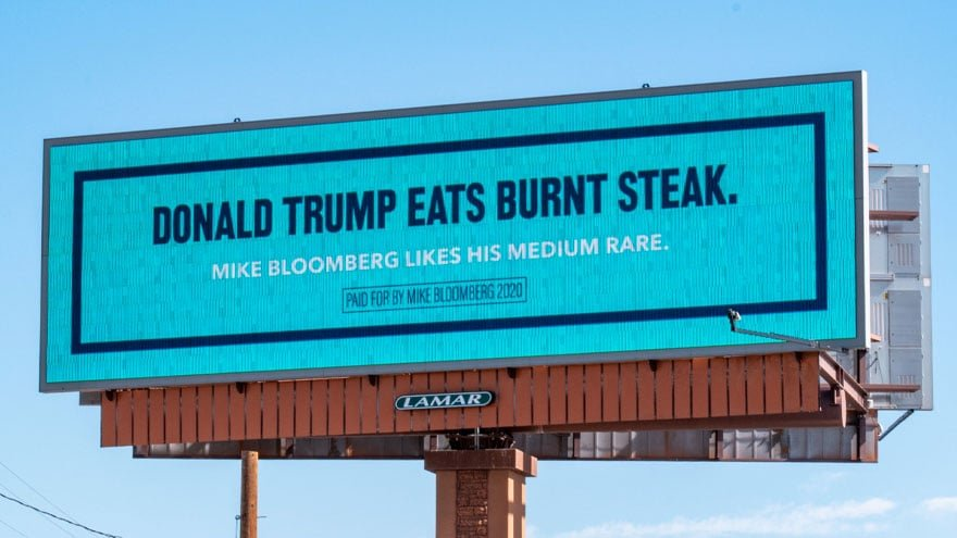 image for THAT'S IT? Social Media MOCKS Mike Bloomberg's 'Anti-Trump' Billboards i...