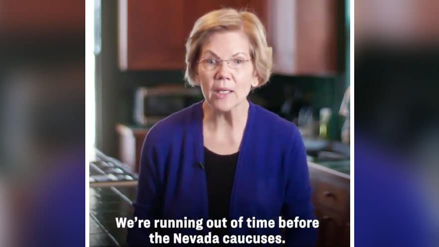 image for WARNING SIGNS: Warren Says She's 'Running Out of Time' Before Nevada, As...
