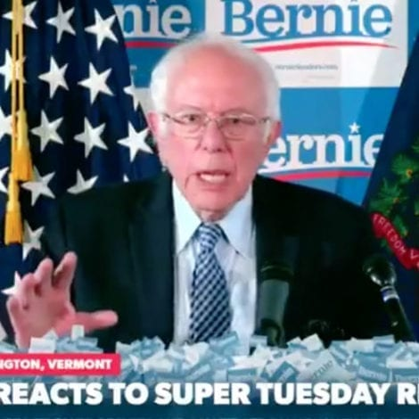 SANDERS SPINS: Bernie Blames Super Tuesday Disaster on 'Venom' from 'Corporate Media'