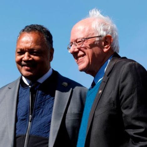 FEELING THE BERN: Jesse Jackson Endorses Bernie Sanders for President Ahead of Tuesday's Primaries