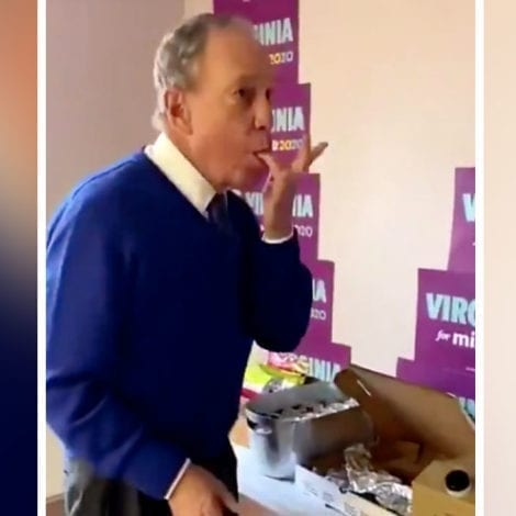 MESSY MIKE! Video Shows Bloomberg Putting Half-Eaten Pizza BACK in the Box, Licking Fingers, Touching Everything