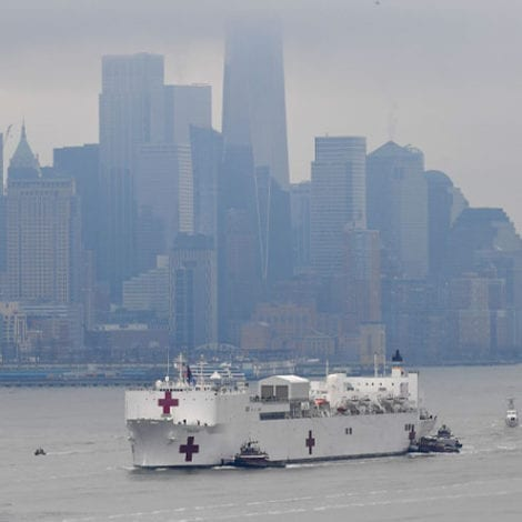 'COMFORT' ARRIVES: US Navy Hospital Ship Arrives in New York Harbor to Help Deal with Coronavirus