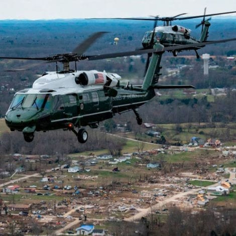 TRUMP in TENNESSEE: The President Tours Tornado Damage After Nashville Storm Kill 25 People