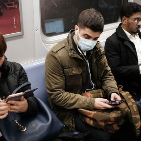 SCARED IN NYC: Frightened Subway Riders Struggle to Find Space During the Coronavirus Pandemic