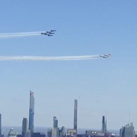 OPERATION AMERICA STRONG: Blue Angels, Thunderbirds Fly-Over NYC in Support of Frontline Workers