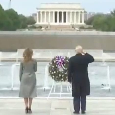 HONORING THE HEROES: Trump Visits WW2 Memorial on 75th Anniversary of Victory Over Nazi Germany