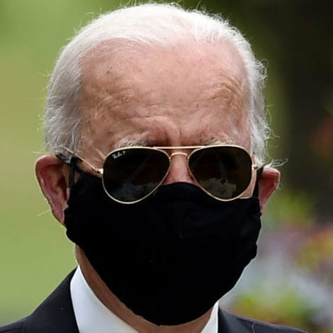 JOE EMERGES: Masked Biden Leaves Home for the First Time in Weeks, Visits War Memorial