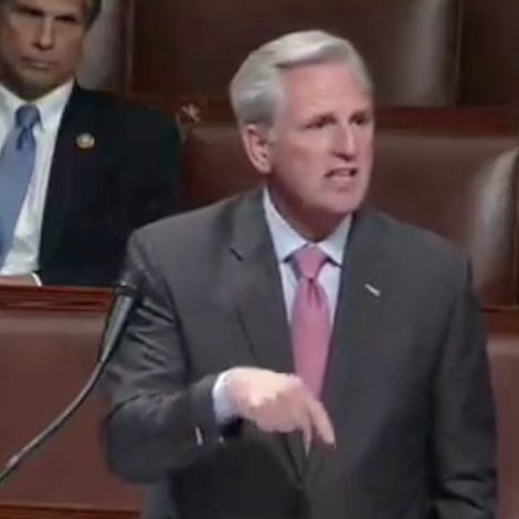 MISSING DEMOCRATS: McCarthy Blasts Absent Lawmakers, Says Constitution 'Requires In-Person' Voting