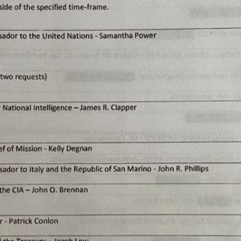 BREAKING: NSA Releases Names of Officials Who Likely 'Unmasked' Flynn; Includes Clapper, Brennan, Comey, BIDEN