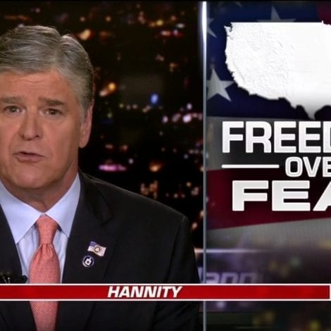 HANNITY: 'It's Time to Get Moving Again, It's Time to Get Our Country Back to Work Safely'