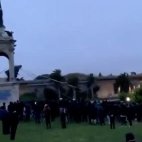 GRANT GOES DOWN: Protesters Destroy San Francisco Statue of Union General Ulysses Grant