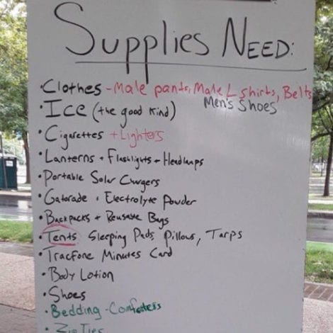 AUTONOMOUS? Seattle Zone Asks for 'Needed Supplies' Like Clothes, Ice, Cigarettes, Lotion, Shoes, MORE…