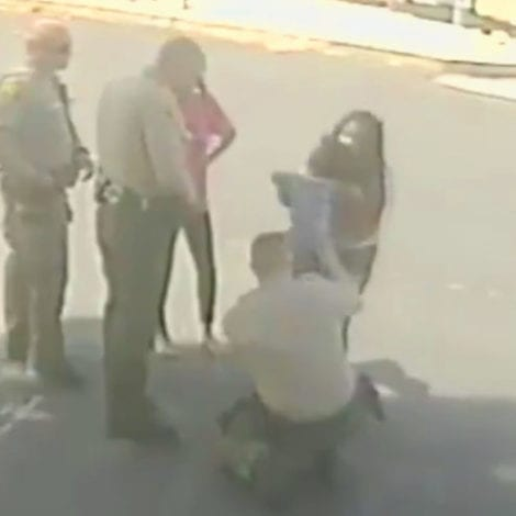 'TO THE RESCUE': Police Rush to Save Protester's Choking Baby in California, Deputy Saves Child's Life