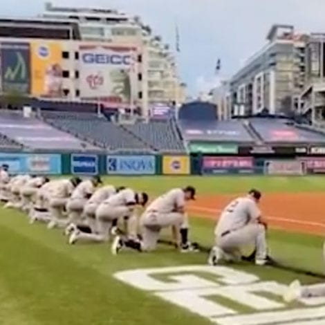 PLAY BALL? All Yankees, Nationals Players Kneel Before Anthem During MLB Opening Game
