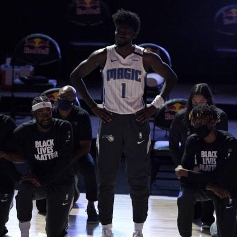 THE STAND: Orlando Magic Star the Lone NBA Player to Stand During US National Anthem