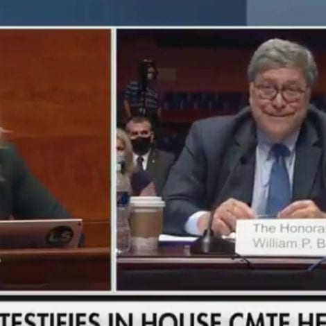 TRAIN WRECK: AG Barr Laughs at Democrat Rep's Illogical Question Over DOJ's Mysterious 'Protest Policy'