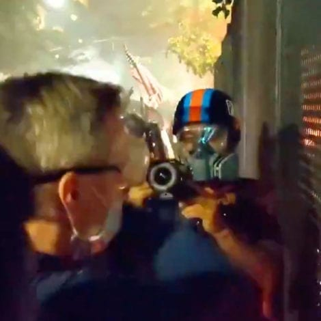 WATCH: Portland Mayor Witnesses Multiple Arson Attacks Against Building, Does Nothing