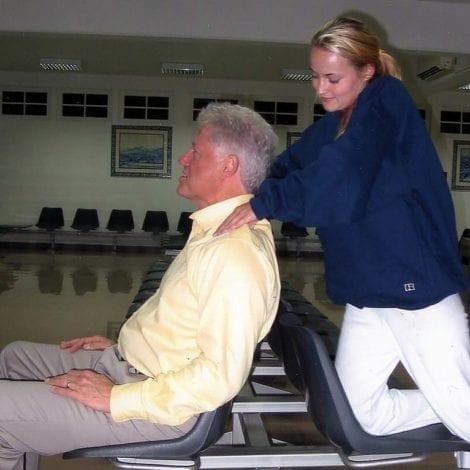 UPDATE: Photo Obtained Of Epstein Victim Massaging Bill Clinton on Africa Trip