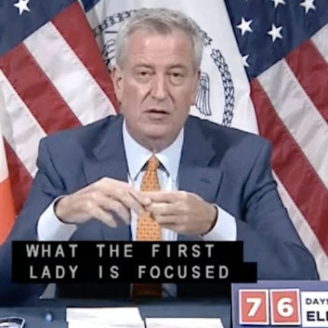 DE BLASIO the DISASTER: Mayor Says Wife's $2M, 14-Person Staff Needed to Fight 'CoVID, Racism' in NYC