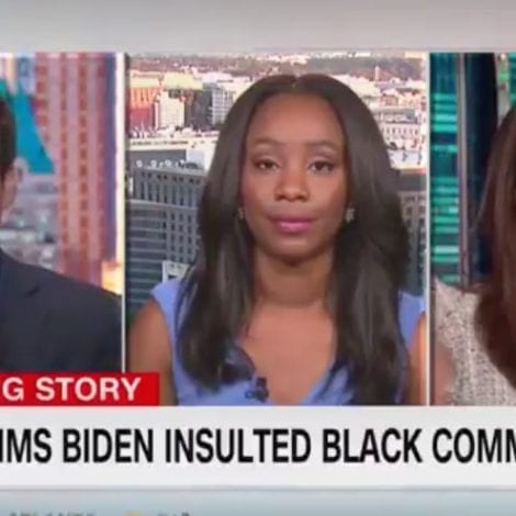 MOB TO THE RESCUE: CNN Headline States 'Trump Claims Biden Insulted Black Community'