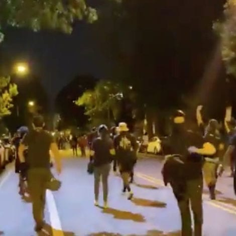 DC UNREST: Protesters Target Apartments, Shine Spotlights in Windows, Scream 'Out of Your Homes!'