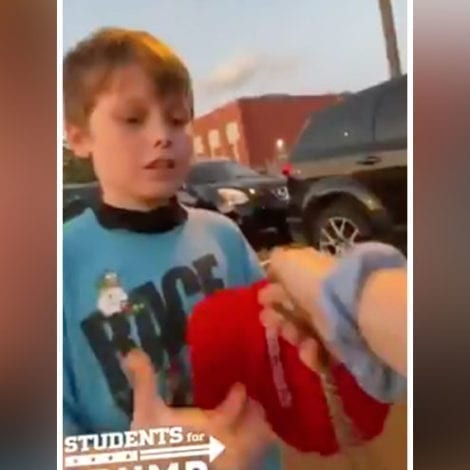 THIS IS SICK: Anti-Trump Maniacs Attack a 7-YEAR-OLD, Steal His 'MAGA' Hat, Rip His Sign, Make Him Cry