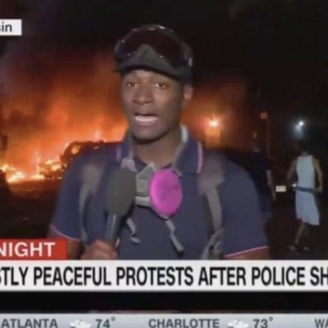 THIS IS CNN: Network Describes Kenosha Riots as 'Fiery But Mostly Peaceful Protests'