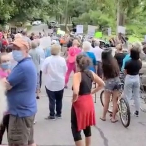 MIXED MESSAGE: Protesters Gather in Person to Claim Voting in Person 'Too Dangerous' During Pandemic