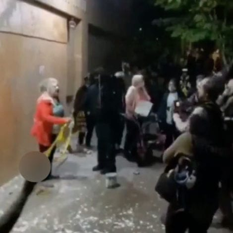 OUT OF CONTROL: Portland Rioters Attack Elderly Woman with Walker Defending Police Station
