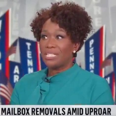 CONSPIRACY TV: Joy Reid Says President Trump Delaying 'Thank You Notes' She Mailed 1 Month Ago