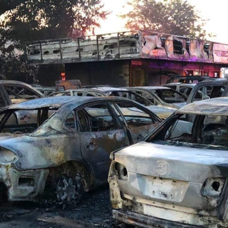 WISCONSIN UPDATE: Rioters Target Car Dealership, Torch Owner's Inventory Following Police Shooting