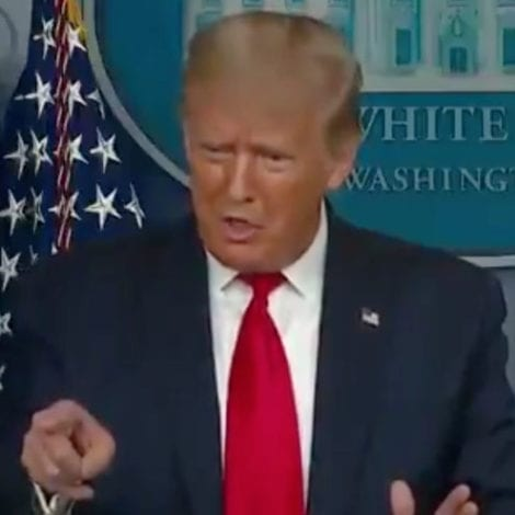 TRUMP: CoVID is a Serious Problem, 'I'm Not Going to Jump in the Air' While Screaming 'People Will Die