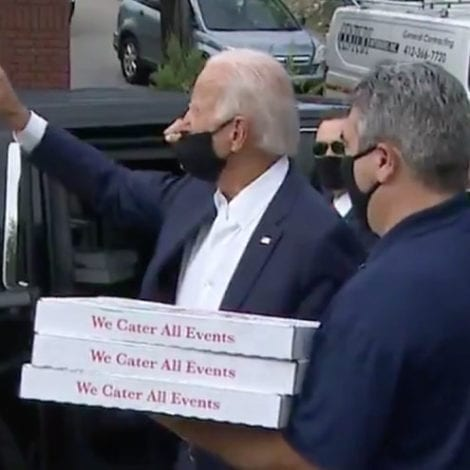 KEEP THE CHANGE! Biden Heckled While Delivering Pizzas, 'Hey Joe, You Finally Got Out of the Basement!!'