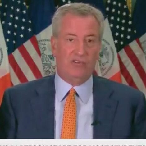 DELUSIONAL DE BLASIO: NYC Has 'Set a Gold Standard' in Re-Opening Schools, Praises 'Heroic' Efforts