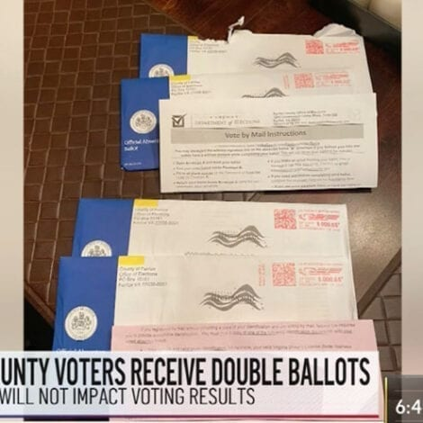 HERE WE GO: At Least 1,000 Voters in Virginia Receive 'Duplicate Absentee Ballots' for 2020 Election