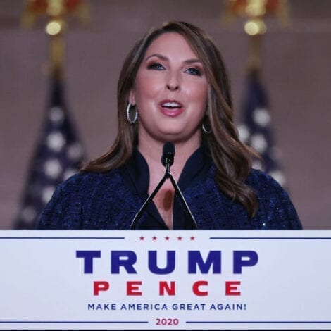 JUST IN: RNC Chair Chairwoman Ronna McDaniel Tested Positive for CoVID-19
